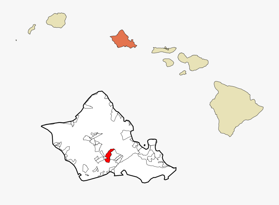 Pearl City, Hawaii - Nation Of Hawaii Location, Transparent Clipart