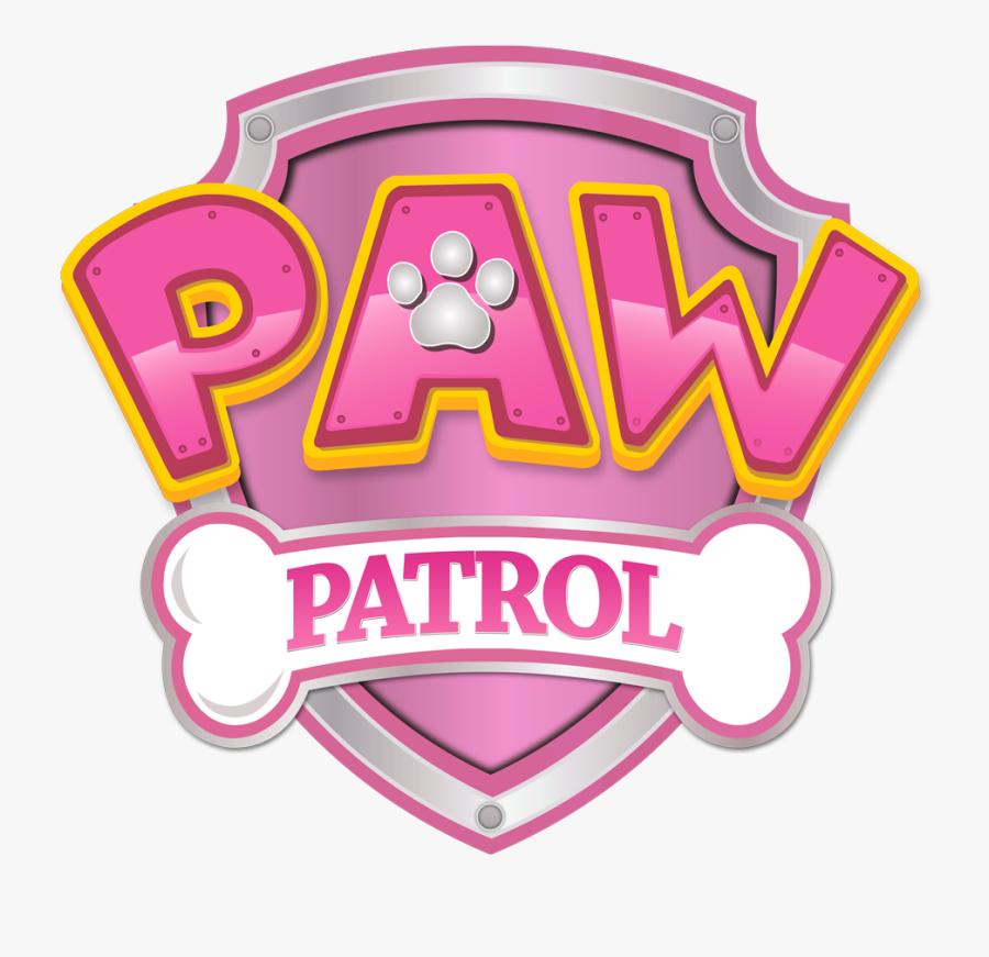 logo paw patrol rosa  free transparent clipart  clipartkey
