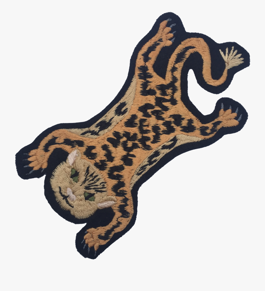 Leopard Embroidered Patch - Illustration, Transparent Clipart