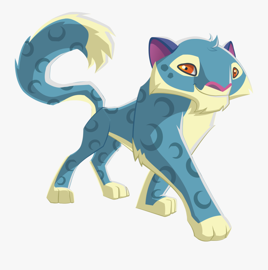 Animal Jam How To Draw A Snow Leopard - Ajpw Snow Leopard, Transparent Clipart