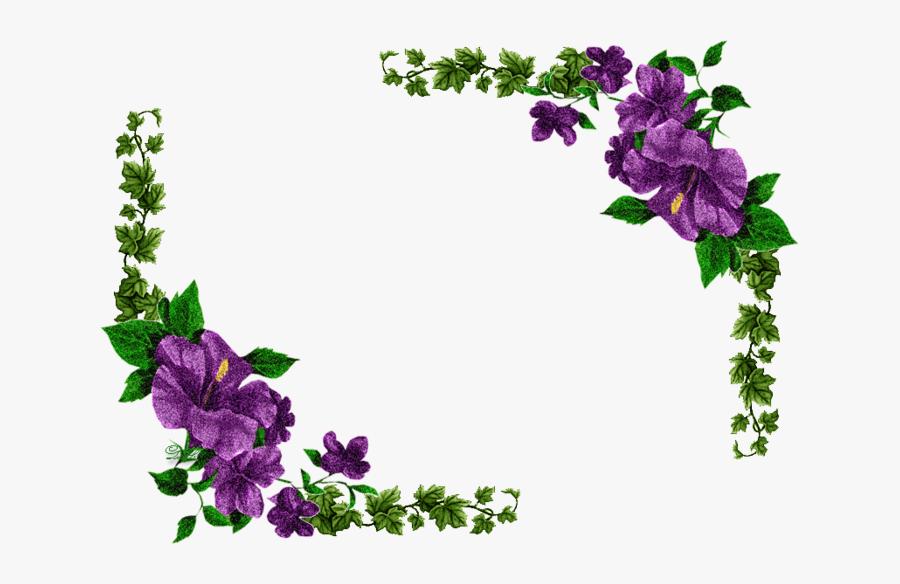 Purple Flowers Transparent Gif, Transparent Clipart