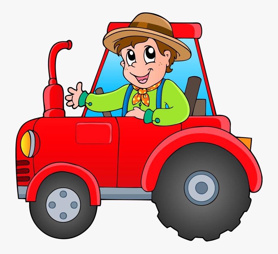 Transparent Tractor Clipart Png - Tractor Cartoon, Transparent Clipart