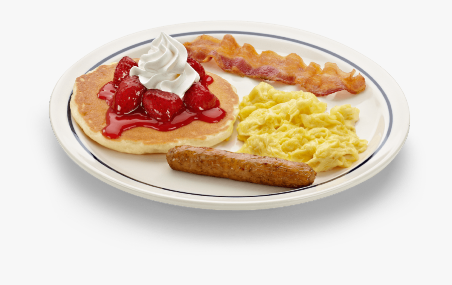 Transparent Single Pancake Clipart - Kids Breakfast Ihop, Transparent Clipart