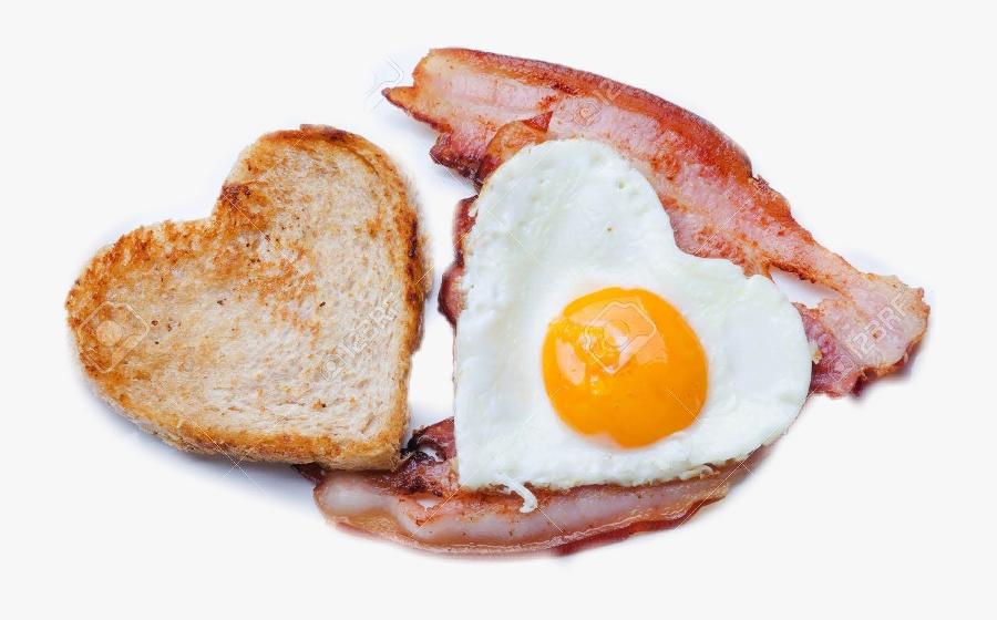 Freetoedit Scbaconandeggs Baconandeggs - Heart Shaped Eggs Breakfast, Transparent Clipart