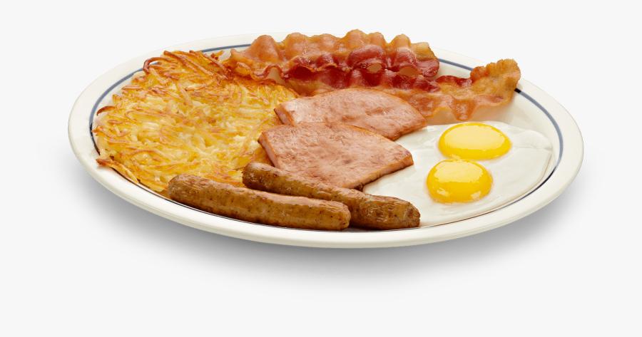 Transparent Fried Eggs Png - Eggs Bacon Ham And Sausage, Transparent Clipart