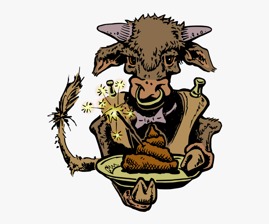 "Manure On A Bull""s Plate - French Fries, Transparent Clipart"