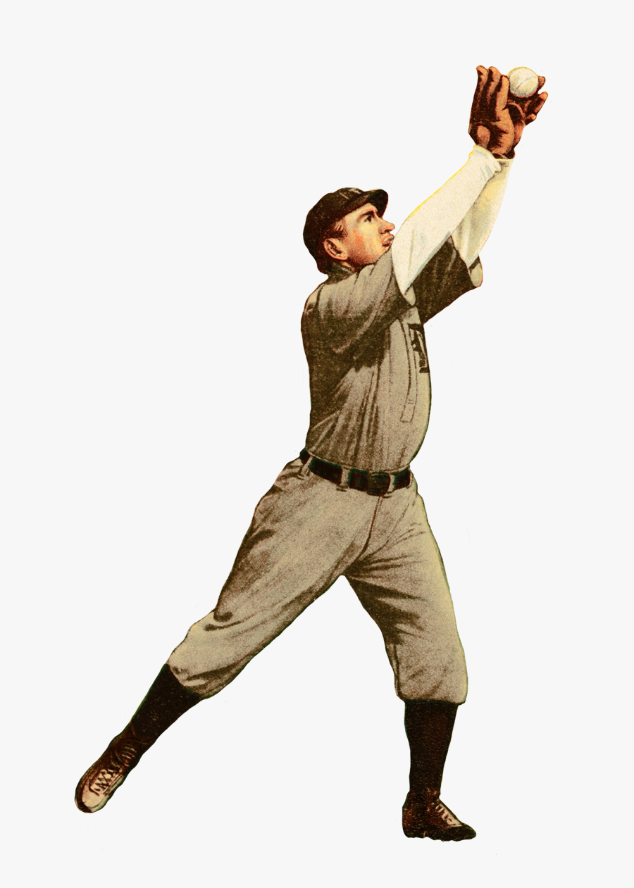 Mcintyre Baseball Player Picture - Baseball Player Vintage Png, Transparent Clipart