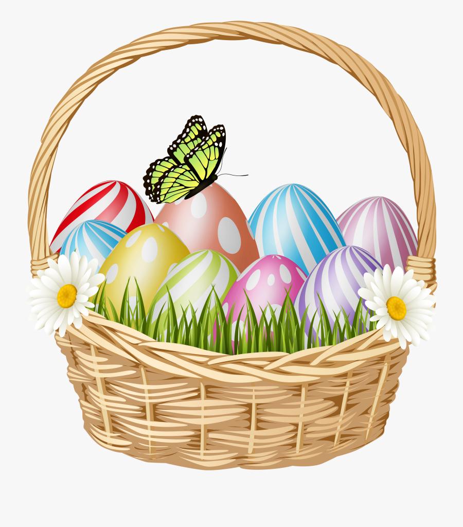 Easter Egg Basket Clip Art , Transparent Cartoons - Easter Egg Basket Clip Art, Transparent Clipart
