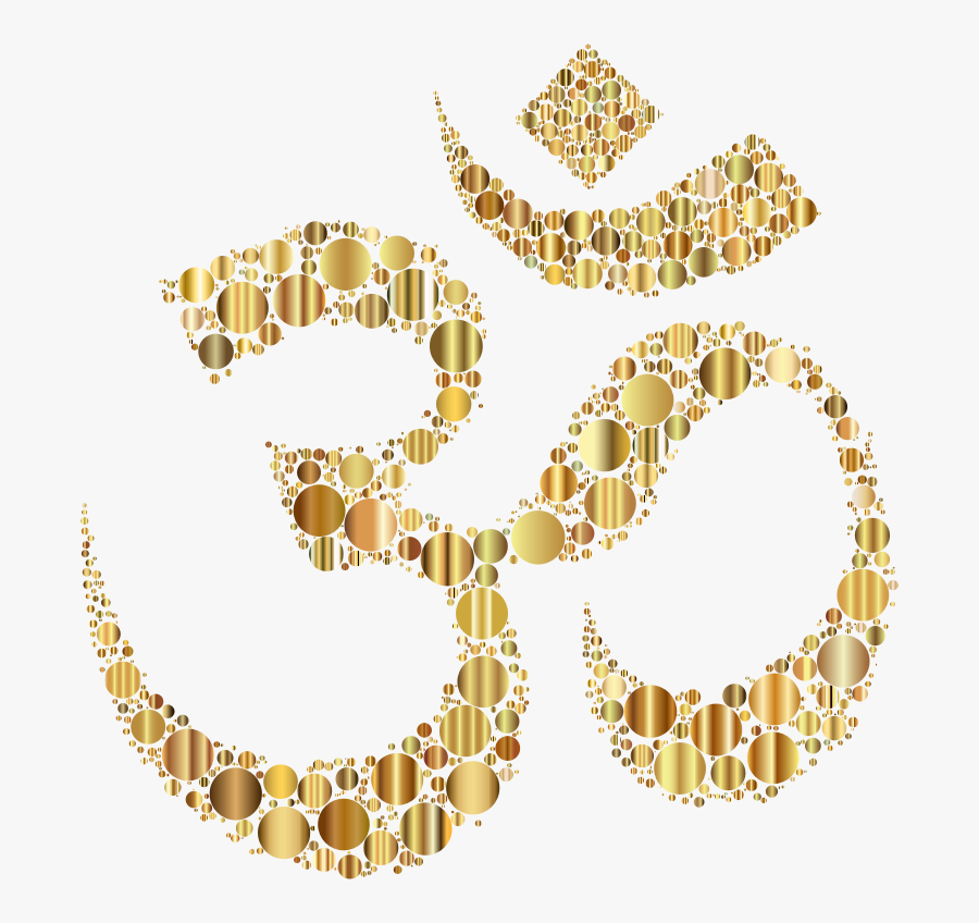 Jewellery,gold,body Jewelry - Golden Om Png, Transparent Clipart