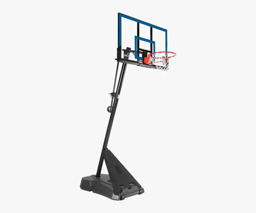 Transparent Basketball Hoop - Spalding 54 Angled Pole, Transparent Clipart