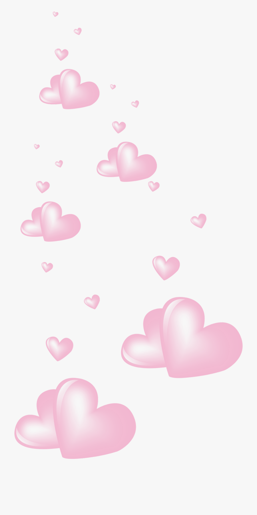#pink #hearts #heart #love #floating - Pink Floating Hearts Png, Transparent Clipart