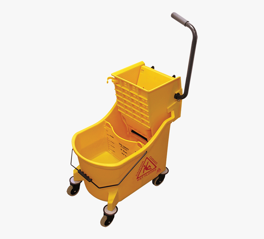 Maxiplus® Mop Buckets & Wringers - Mop And Bucket Cleaning, Transparent Clipart