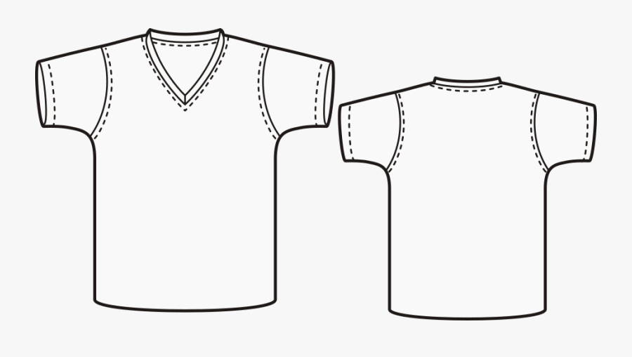 Jersey Drawing T Shirt Huge Freebie Download For Powerpoint - Vneck Tshirt Pattern, Transparent Clipart