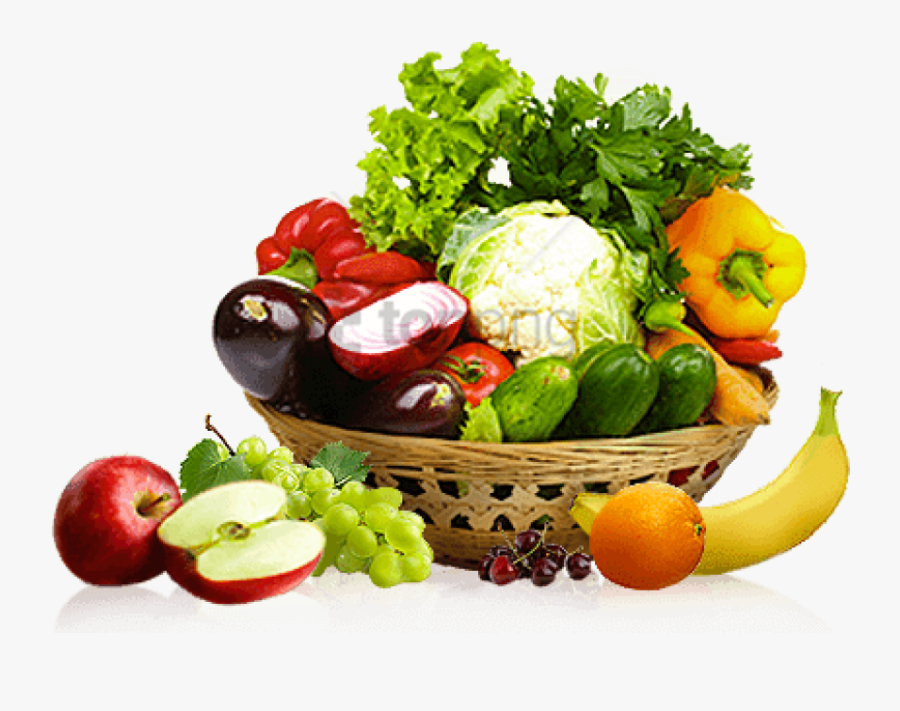 Fruits And Vegetables Basket Png - Transparent Fruits And ...