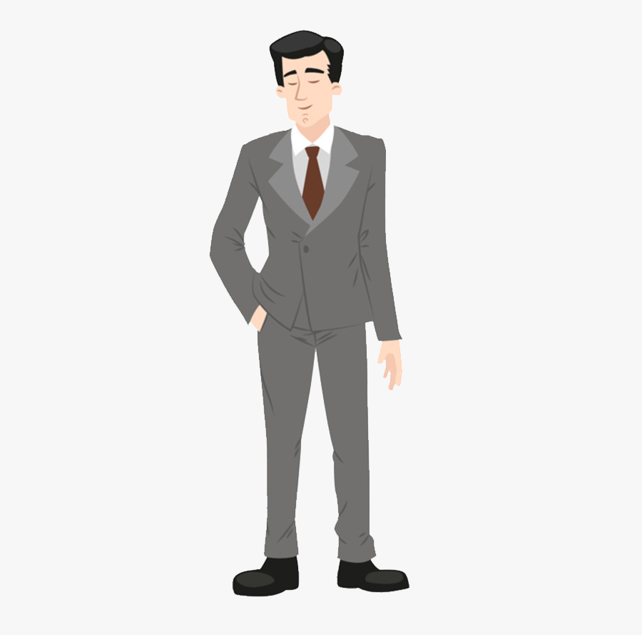 Suit Cartoon Formal Wear Illustration - Man In Suit Clipart Png, Transparent Clipart