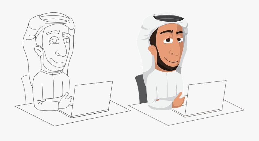 Transparent Arabic Png - Arab Man Graphics Png, Transparent Clipart