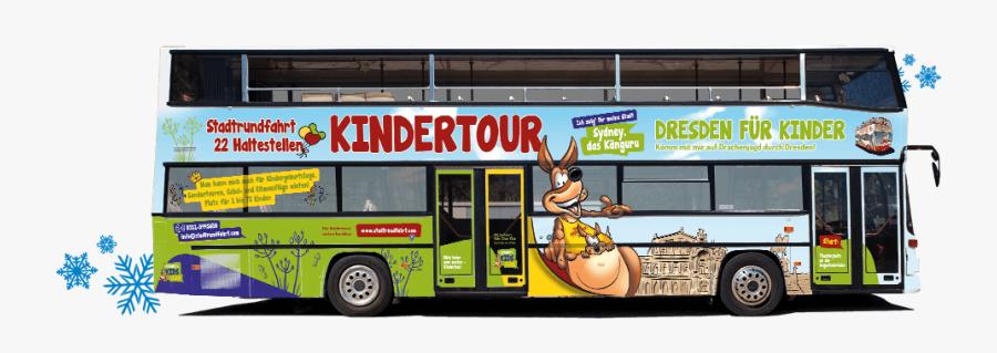 Clip Art Funny Tour Bus - Bus, Transparent Clipart