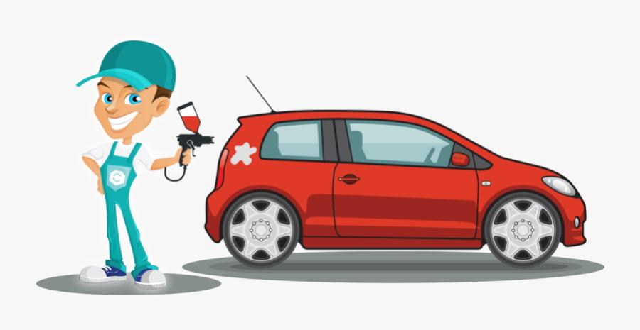 Car Wax Clipart - Car Painting Cartoon, Transparent Clipart