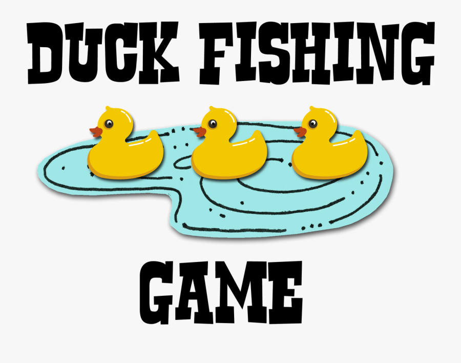 Duck Fishing Game Sign, Transparent Clipart