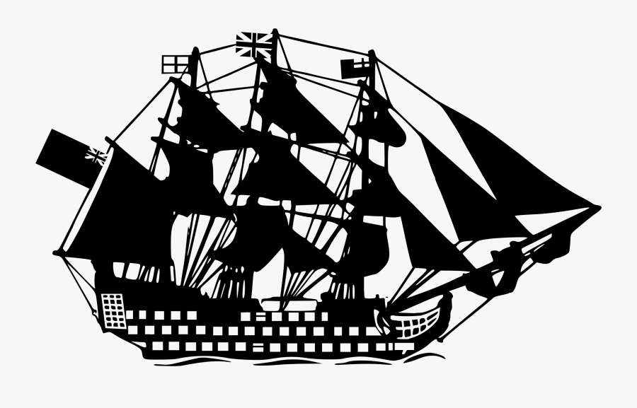 Sailing Ship Drawing Cc0 - Clipart Navio Png Desenho, Transparent Clipart