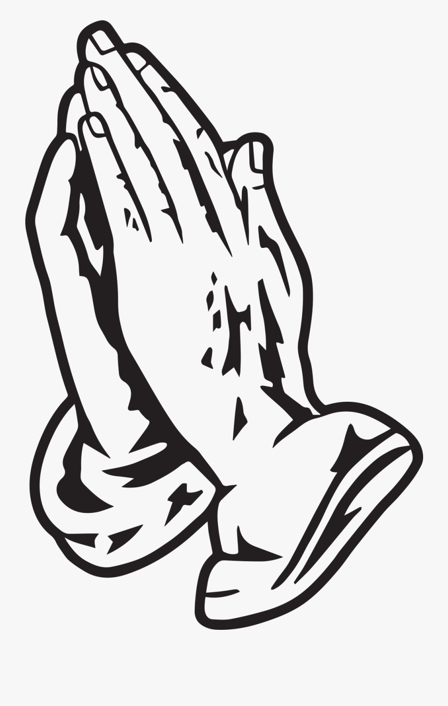 Pray Praying Hands Sticker By Victory Church - Praying Hands Stencil, Transparent Clipart