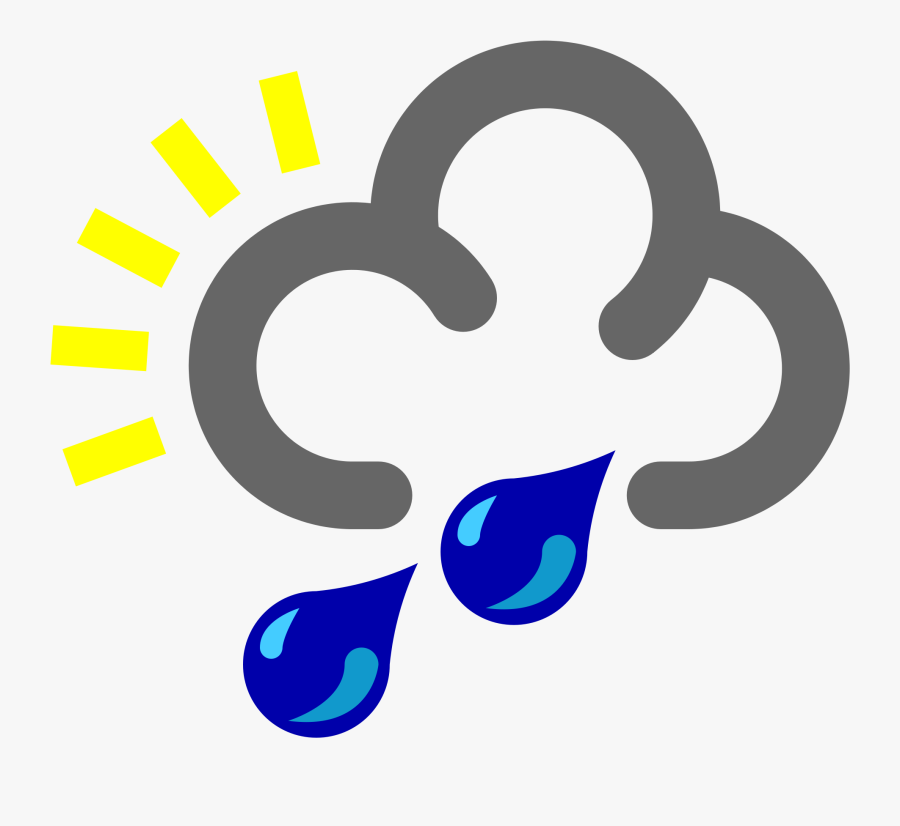 Transparent Raindrops Svg - Weather Symbols Heavy Rain, Transparent Clipart