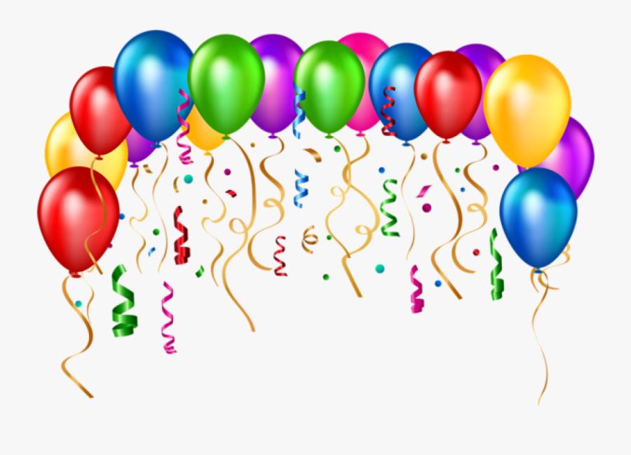 Transparent Baloon Clipart - Birthday Balloons Transparent Png, Transparent Clipart