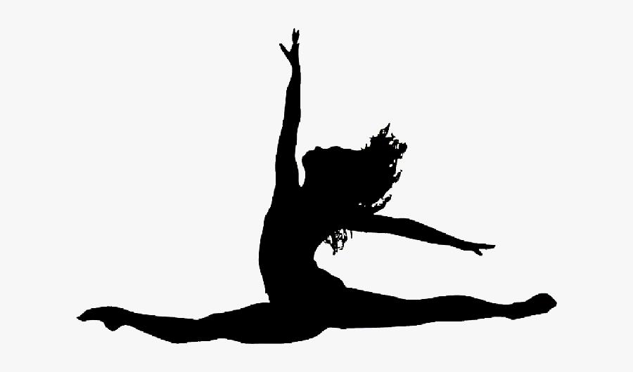 Dancer Silhouette Split Jump Clipart Png Download Split Leap Dancer Silhouette Free Transparent Clipart Clipartkey