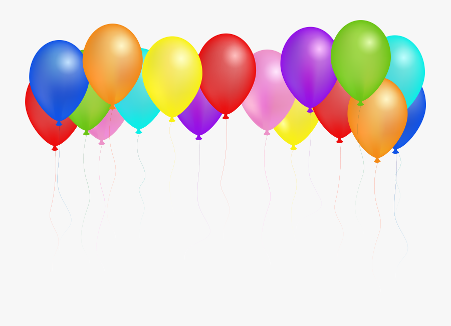 Clipart Royalty Free Library Balloons Svg Seven - Happy Birthday Transparent Balloons Png, Transparent Clipart