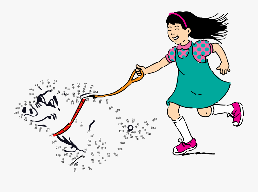 Connect The Dots - Take The Dog For A Walk, Transparent Clipart