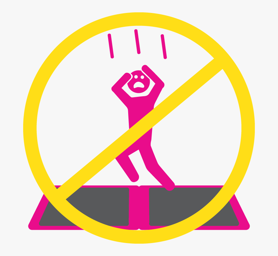 Safety Icon - Trampoline Safety Rules, Transparent Clipart
