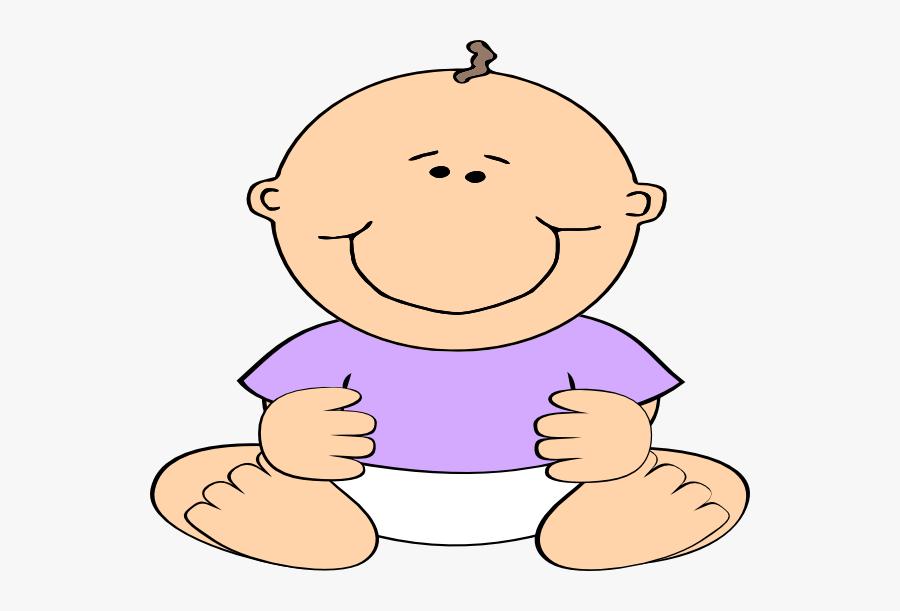 Baby Boy Purple, Transparent Clipart