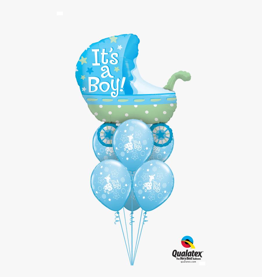 Transparent Its A Boy Clipart - Baby Boy Balloons, Transparent Clipart
