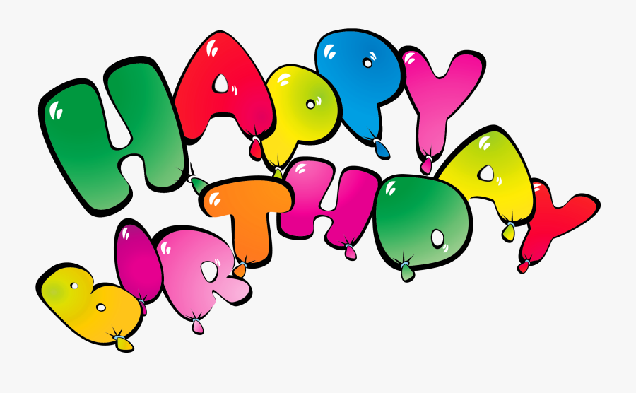 Transparent Happy Birthay Balloons Png Clipart Picture - Happy Birthday Vector, Transparent Clipart