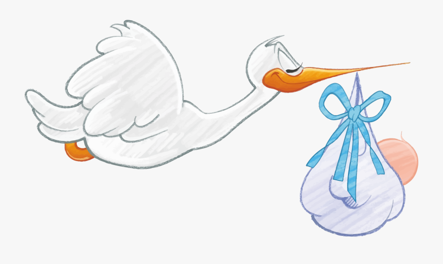 Stork Carrying Baby Boy Clip Arts - Stork Carrying Baby Boy, Transparent Clipart