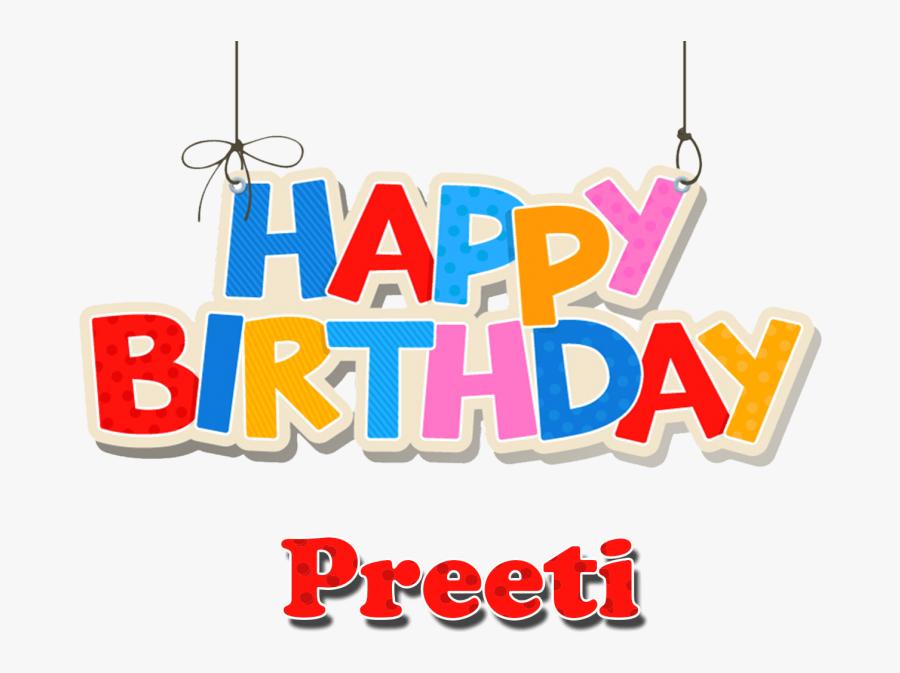 Free Png Preeti Happy Birthday Balloons Name Png Png - Happy Birthday Aryan Png, Transparent Clipart