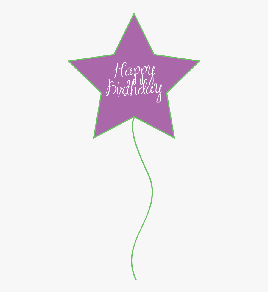 Birthday Purple And Green Balloons, Transparent Clipart