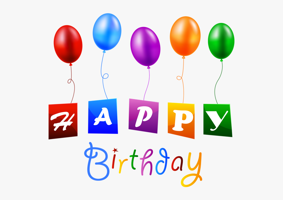 Happy Birthday With Balloons Png Clipart Image Happy - Birthday Balloon Png Hd, Transparent Clipart