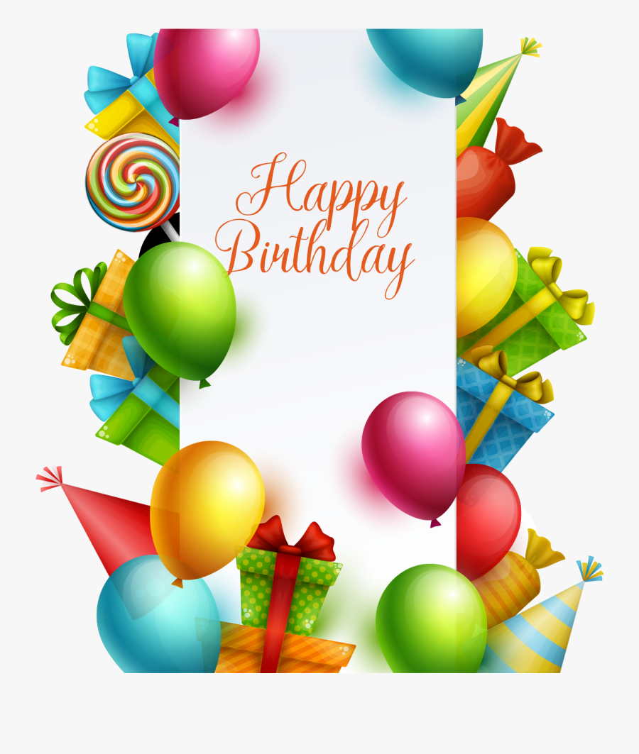 Happy Birthday Png, Gift Vector, Colorful Birthday, - Happy Birthday Em, Transparent Clipart
