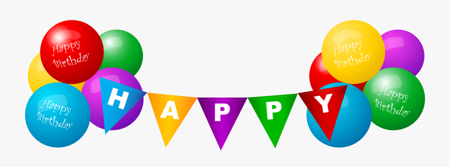 Happy Birthday Deco Balloons Png Clip Art Image - Birthday Balloons Background Png, Transparent Clipart