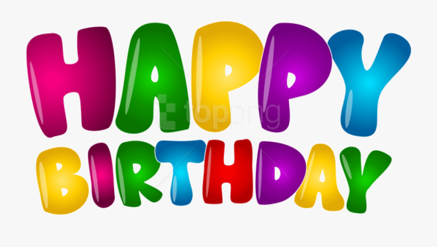 Happy Birthday Balloons Png - Happy Birthday Colorful Clipart, Transparent Clipart