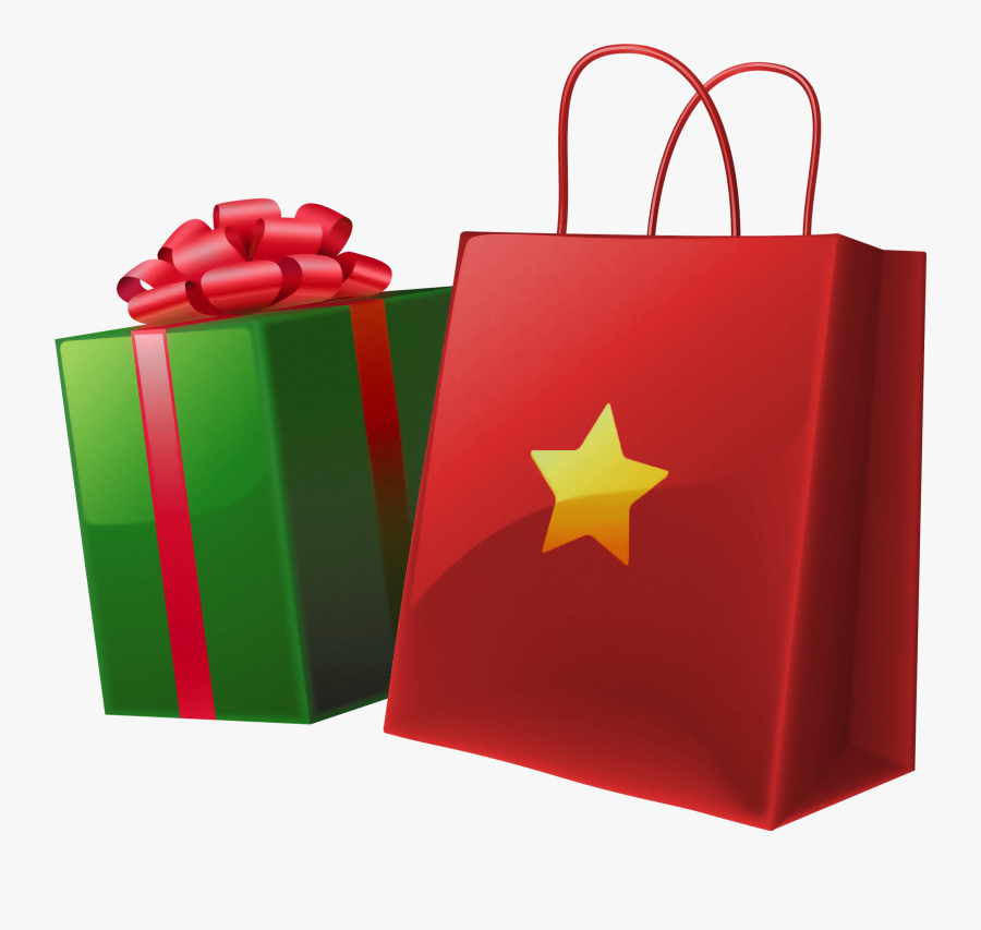 Clipart Of Red Christmas Bag With Toys - Christmas Gift Bag Clipart, Transparent Clipart