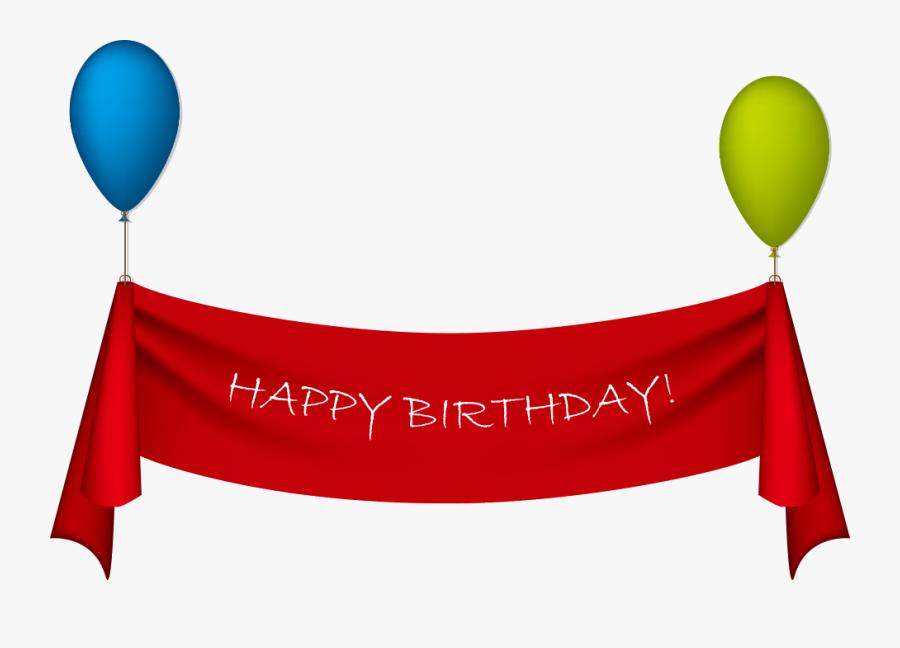 Birthday Ribbon Greeting Card Clip Art - Banner Happy Birthday Png, Transparent Clipart