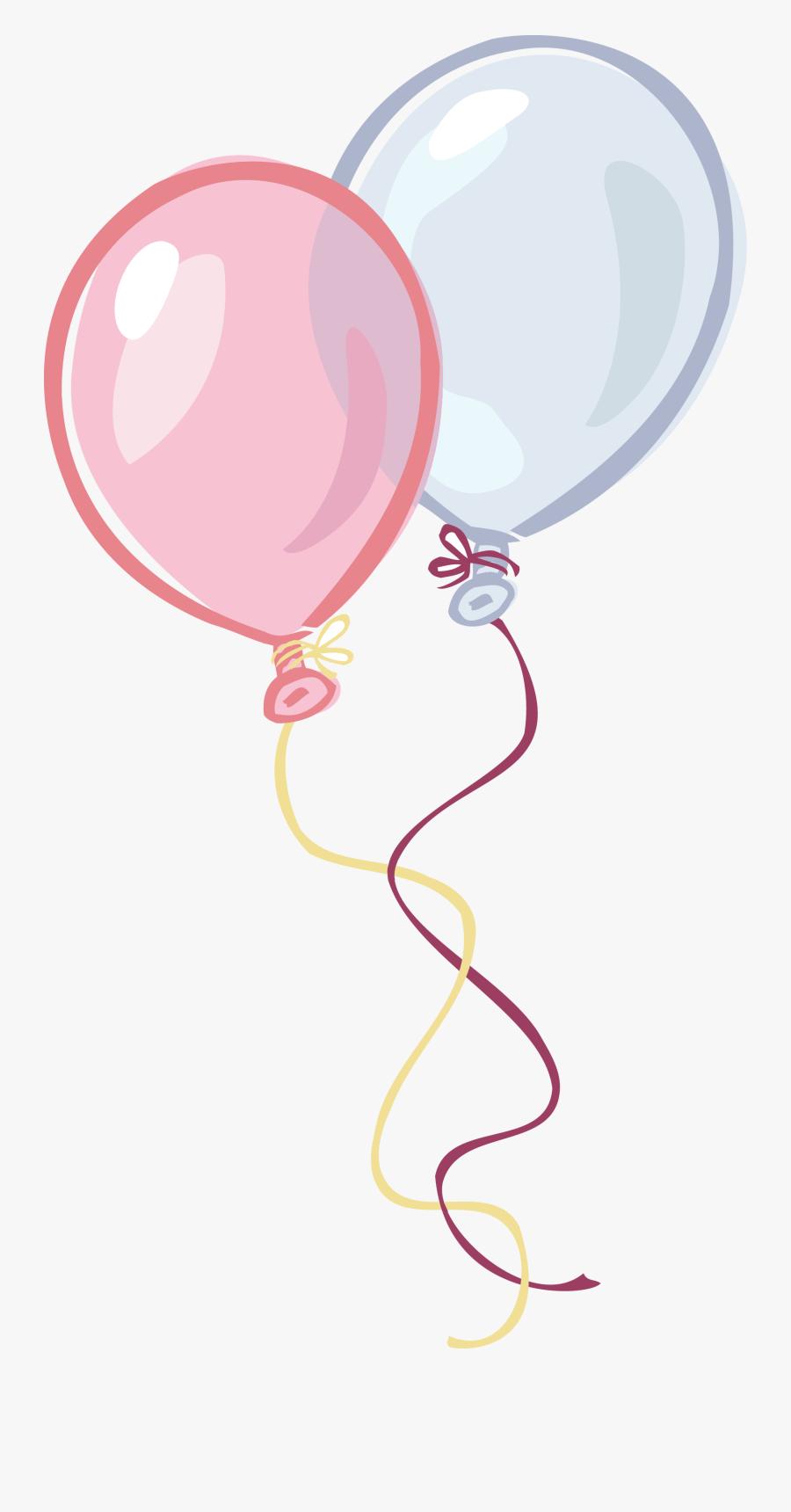Transparent Birthday Balloons Clip Art - Birthday Balloon Pink Png, Transparent Clipart