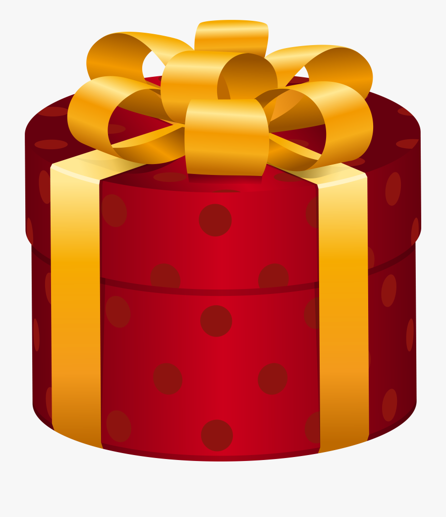 Oval Red Dotted Gift Box Png Clip Art Image - Gift Box Clipart, Transparent Clipart