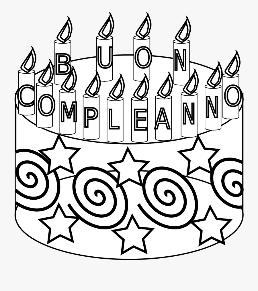 Black And White Birthday Cards To Colour, Transparent Clipart