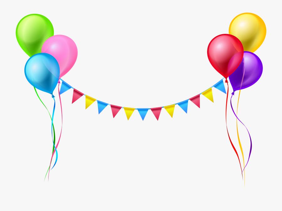 Birthday Balloons Clipart Colorful - Birthday Balloons Transparent Background, Transparent Clipart