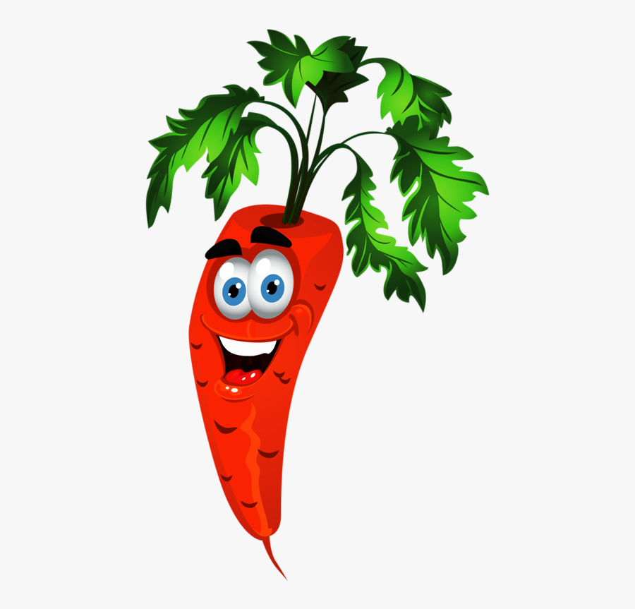 Clipart Tree Vegetable - Animation Animated Fruits And Vegetables, Transparent Clipart
