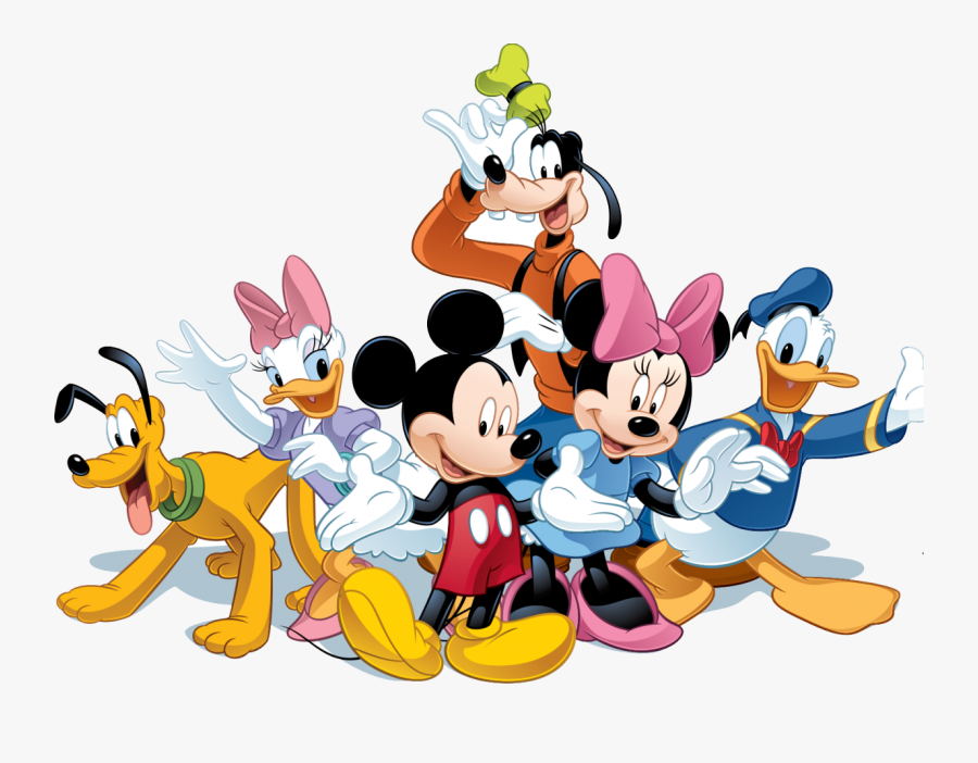Mickey Mouse And Minnie Coloring Pages Lovely 28 Collection - Cartoon Mickey Mouse And Friends, Transparent Clipart
