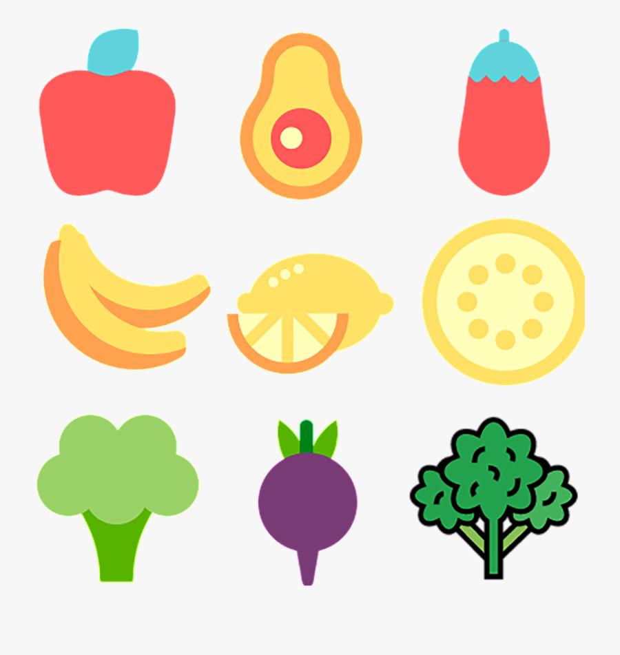 Fruit Vegetable Food Icon - Vegetable Food Icons Transparent, Transparent Clipart